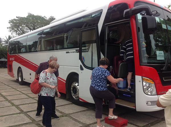 Private 45seat bus for 28 British and Australian package tours Vietnam