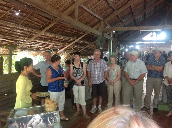 Coconut factory tour to Vietnam from Australia