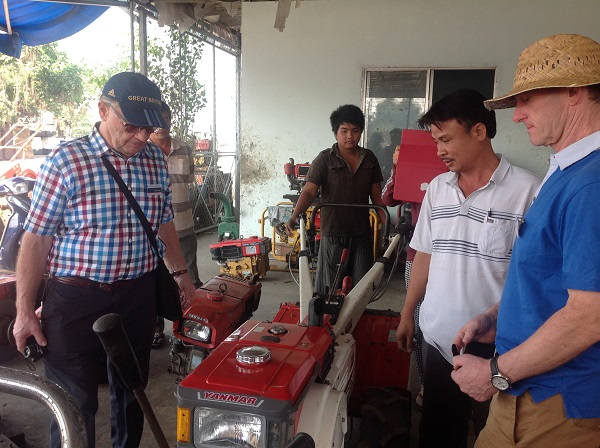 farm tool visit on the trips to Vietnam from UK