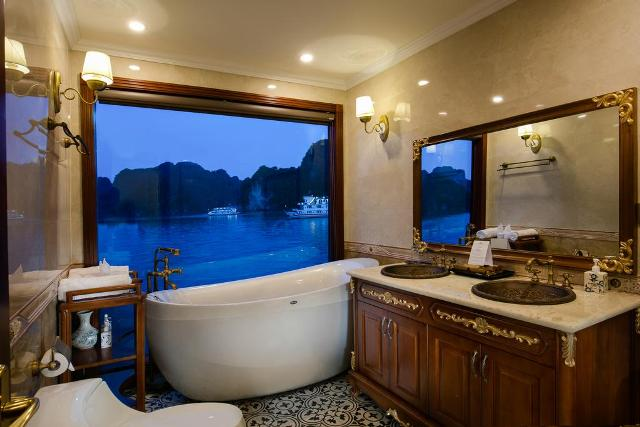 Luxury bathroom on Emperor cruise