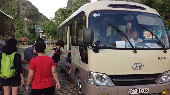 Our 29 seat bus for Mrs. Lim on Vietnam tour package from Singapore