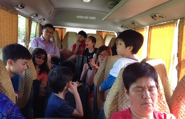 Inside Our 29 seat bus for Mrs. Lim on Vietnam tour package  Singapore