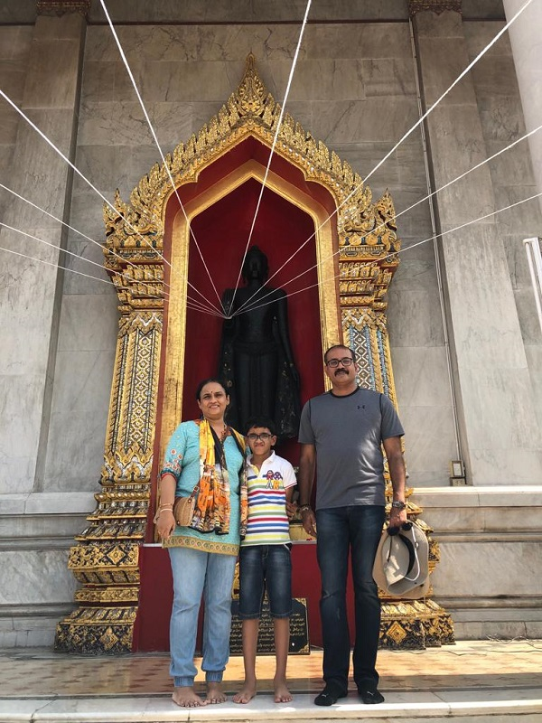 Mr. Vinod family on  their Thailand Laos   Vietnam  Trip 2019, 2020 with us