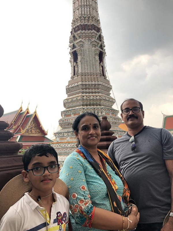 Mr. Vinod family on  their   Cambodia  Laos Vietnam  Tours 2019, 2020 with us