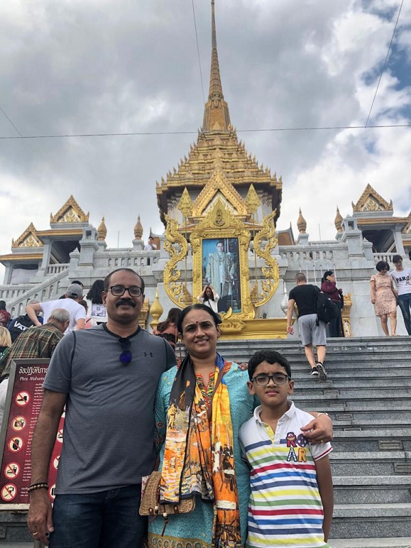 Mr. Vinod family on  their   Cambodia Vietnam  Laos  Tours 2019, 2020 with us