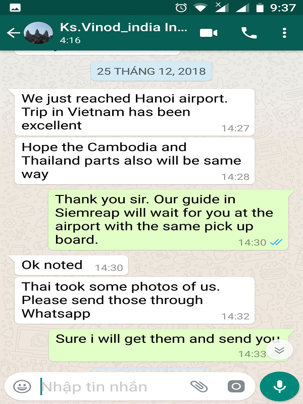 Mr. Vinod family on  their Thailand   Vietnam   Laos Travel package 2019, 2020 with us