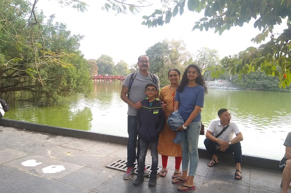 Mr. Vinod family on  their Thailand   Vietnam   Laos Tours 2019  with us