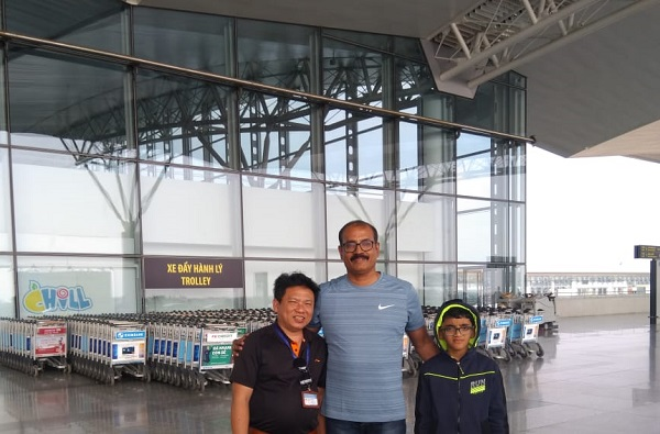 Mr. Vinod family on  their Thailand Laos  Vietnam  Holidays 2019, 2020 with us
