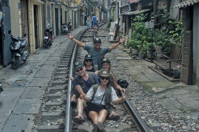 Just on tour in Vietnam